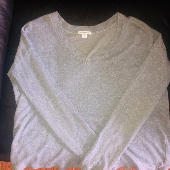 JAMES PERSE Tops - JAMES PERSE LONG-SLEEVE HEATHER SHIRT- Size 2